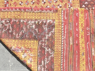 Western Anatolia, including Fethiye, dating from the mid-19th century. madder antique rug,cicim,kilim