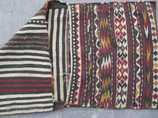size: 65 x 133 (cm)   Caucasian zakatalag Saddle Bag (Heybe) 20. century (madder)