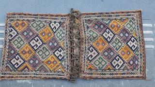 Size : 66 x 143 (cm) 19th ceutry  Eastern Anatolia  Saddlebag