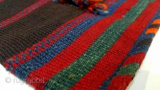 East anatolia , Hakkari . Yoruk Mothers carried their children on their backs with this rug.