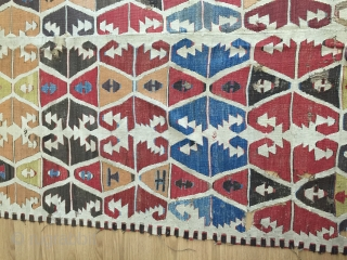 This kilim is a so lovely and age is a more 150 years