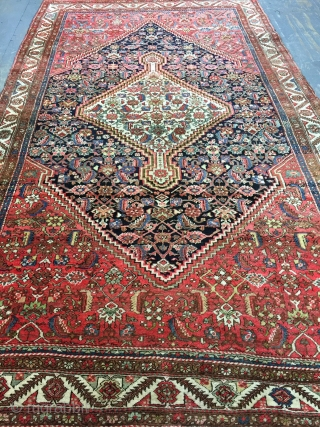 Antique Handmade Persian Bakhshayesh Rug,All in natural,good pile,soft and good Condition,lovely design,Clean,Wool&Cotton,Around 100 years old