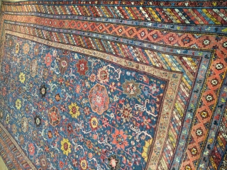 Antique,Old,Used,Handmade Karabagh Rug.