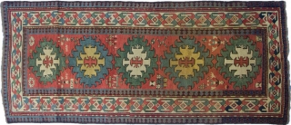 19th Century Old Caucasian kazak runner,