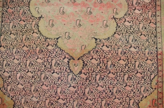 Antique Mishan malayer rug,around 100 years old,size:203cm by 138cm