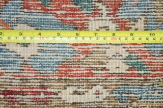 Antique Persian heris rug,somewhere small repaired,around100 years old,size:295cm by 209cm