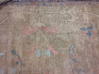 Good Ziegler carpet with exceptional spacious design on a walnut field enclosed by a wide pale blue main border of palmettes,sultanabad (Arak) north west Persia ,last quarter 19th century,20ft. 1 in.by 13ft.  ...