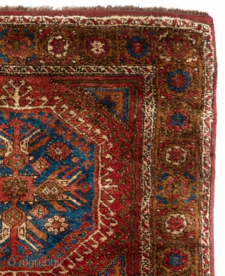 """Yatak Rug"", Nuzumla village in Konya, Central Anatolia, ca 1910. 4' 5"" x 6' 5"" (136x195 cm), Full pile, very good condition. All original other than one small repair which is not  ..."