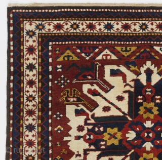 "Antique Caucasian Chelaberd (so called ""Eagle Kazak"") Rug, Karabagh Region, 4'7"" x 6'9"" (140x205 cm), mint condition.