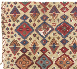 "Fantastic Central Anatolian Kilim, 18th Century. 140x320 cm - 4'7"" x 10'6"""