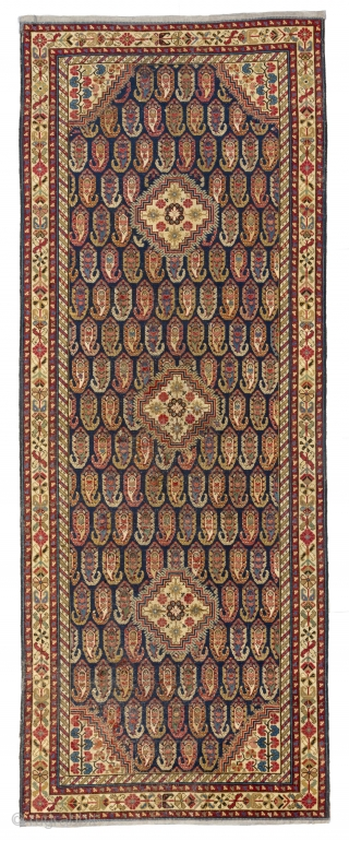 Antique Baku Chila (Khila) long Rug, East Caucasus - Azerbaijan, ca first half 19th Century. 