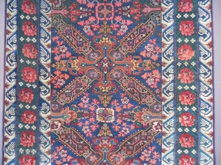 Antique Caucasian Seichur Long Rug, 10.2x4.1 ft, Excellent Condition, 19th Century.