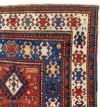 """Antique Caucasian Kazak Rug, ca 1850.  144x240 cm - 4'9"""" x 7'10"""""""