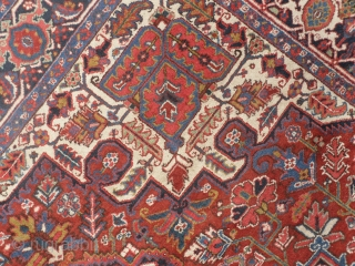 A Persian Heriz Carpet, 335x255 cm (10.1 x 8.4 ft), excellent condition, full pile, no repairs, needs a light wash, ca 1930. www.rugspecialist.com