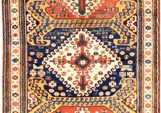 "Karabagh Rug, Southern Caucasus, late 19th Century. 4'5"" x 7'10"" (135x240 cm). Very good condition, full pile. Provenance: A private Eastern European collection."