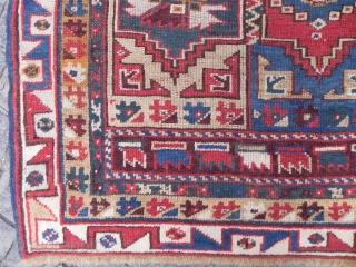 A colourful Anatolian Megri Rug, 19th century. www.rugspecialist.com