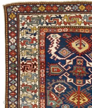 Colorful Antique Caucasian Bidjov Rug,  late 19th Century, 5 x 10 Ft. (150x305 cm)