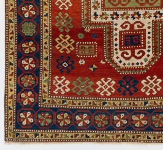 "Antique Caucasian Sewan Kazak Rug, 5'2"" x 8' - 156x243 cm, no 4607"