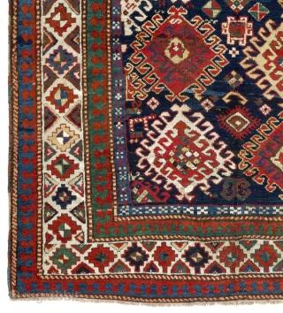 """Antique Caucasian Bordjalou Kazak Rug, 5'3"""" x 7'6"""" - 160x230 cm. ca 1880."""