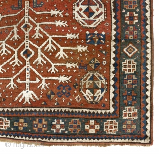 "Antique Caucasian Tree Kazak Rug. 5'3"" x 7'10"" - 160x240 cm. 19th Century."