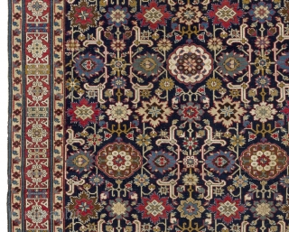 """A Magnificent """"Afshan Kuba"""" rug from Shirvan region, North East Caucasus, ca 1800s 5'3"""" x 12' - 160x364 cm.     """"This fine Afshan rug is from the Shirvan district in the Kuba  ..."""