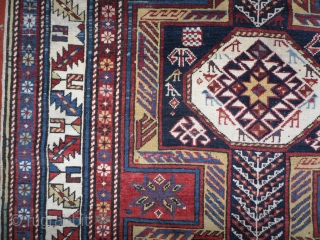 shirvan baku long rug. 19th century. as found, untouched, virgin, not restored, not washed, dusty