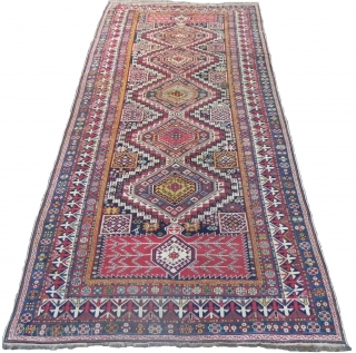 An Outstanding Large Antique Caucasian Shirvan Rug recently acquired from an exceptional private collection in California, 11.1x5.6 ft (338x171 cm), A Superb Representative of woven art, Excellent Original Condition, No Issues and  ...