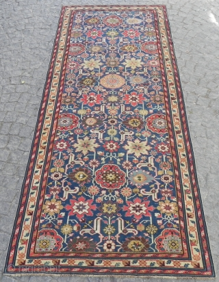 Antique Caucasian Afshan Kuba long Rug