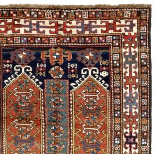 "Antique East Anatolian Rug, 126x240 cm (4'2"" x 8'). Full pile, excellent original condition, no repairs, no issues."