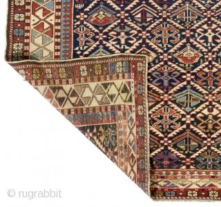 "Antique Caucasian Shirvan Rug, 127x186 cm - 4'1"" x 6'1"", ca 1880, very good condition, all original, no repairs, no issues."