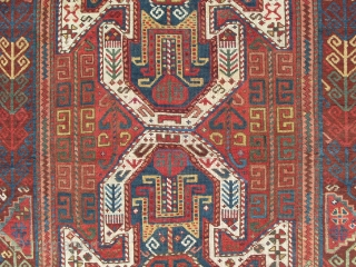 East Anatolian Runner (Kagizman), 10.6 x 3.7 ft (320x113 cm), sec half 19th Century, good condition, lustrous wool and great colours. www.rugspecialist.com
