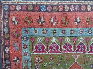 A Splendid East Anatolian Kurdish Rug (Sivas), 62x43 inches (157 x 109 cm),  Ravishing Colours, Very good condition and Full Pile, ca 1870, from a prominent Turkish estate.  www.rugspecialist.com