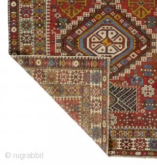"""Antique Caucasian Shirvan Rug, 4'3"""" x 9'  (130x275 cm)"""