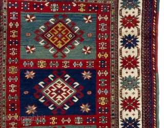 Antique Caucasian Kazak Rug, 131x290 cm. Very good original condition, no repairs, no issues.