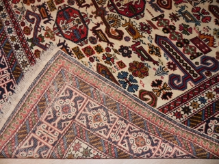 Antique Caucasian Perepedil Rug, 4.7 x 5.6 ft