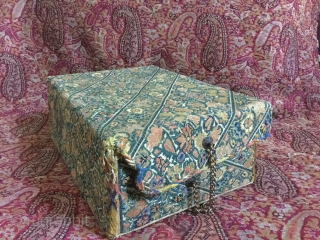 Persian embroidered box,made of a shalwar panel Cm.10x18x26
