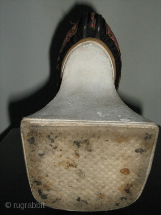 Chinese Manchu flower pot sole shoe,19th.cent,good condition,rare.