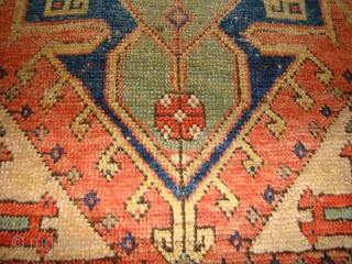 Anatolian Turkish Yastik. Konya? Size: 23X36 Inches 59X92 cm