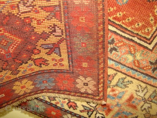 Turkish Melas prayer rug in great shape. Size: 37x53 Inches or 95x135 Cm.