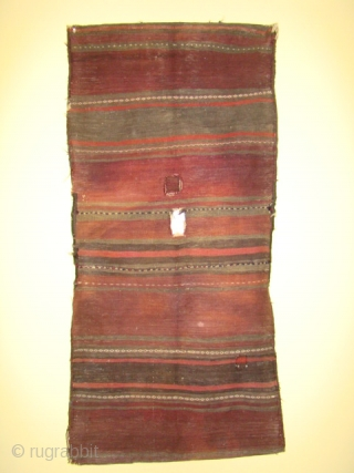 Complete Baluch Bag with some wear and oxidation. Size:26X53 inches 135X66 cm