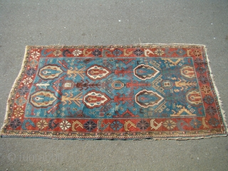 Handsome NW Persian/Caucasian Avar? 39X73 inches 100X186 Cm. All wool with great colors, needs a bath.