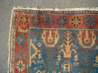 Handsome Caucasian Avar rug 39X73 inches 100X186 Cm. All wool with great colors, needs a bath.