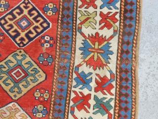 Caucasian Long Rug in original condition. Size: 4'X8'. 122X245 cm