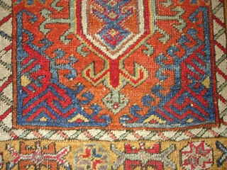 Central Anatolian Turkish Yastik. Great colors. 2X3.5 or 61X104 Cm.