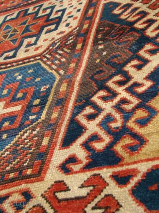 Caucasian Borchalo rug in good condition. Size: 48X93 inches, 122X236 Cm.