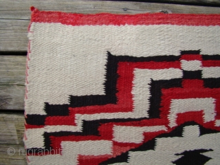 Unusual Navajo weaving that resembles (child's) prayer rugs with stepped prayer arches and stepped diamond mihrabs.