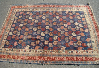 """Caucasian Kuba rug. Wool foundation with some wear and oxidation as shown.   Measures 48"""" X 65"""".... 122X165 cm"""