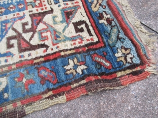 Shahsevan long rug. 10ft. 6in. x 4ft.  320 x 122 cm