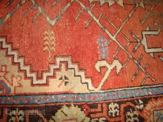 "Anatolian Turkish Prayer Rug. 37"" X 50"" ....Very dirty."