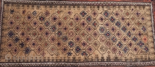 "Camel field Baluch rug. Soft and floppy. Size: 2'9""x4""8""....84X142 Cm."